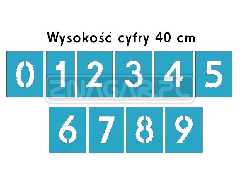 Szablon Malarski Cyfry 0 9 Sklepznagar Pl